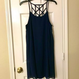 NWT Blue C Label spaghetti strap shift dress